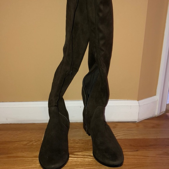 c23dd7cc3c32 Aldo Shoes | Olive Green Over The Knee Boots | Poshmark
